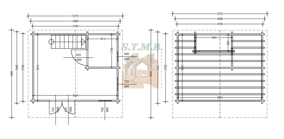 Plans chalet en bois mezzanine laurier msb