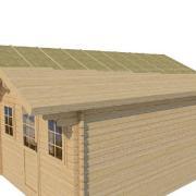 Pose 2eme volige sur toit chalet en bois